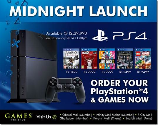 ps4 midnight launch india