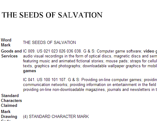 the seeds of salvation