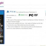 Batman: Arkham Knight Confirmed, Next Gen Box Art Revealed on GAME Site