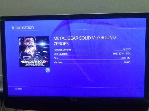 metal gear solid 5 ground zeroes ps4 size