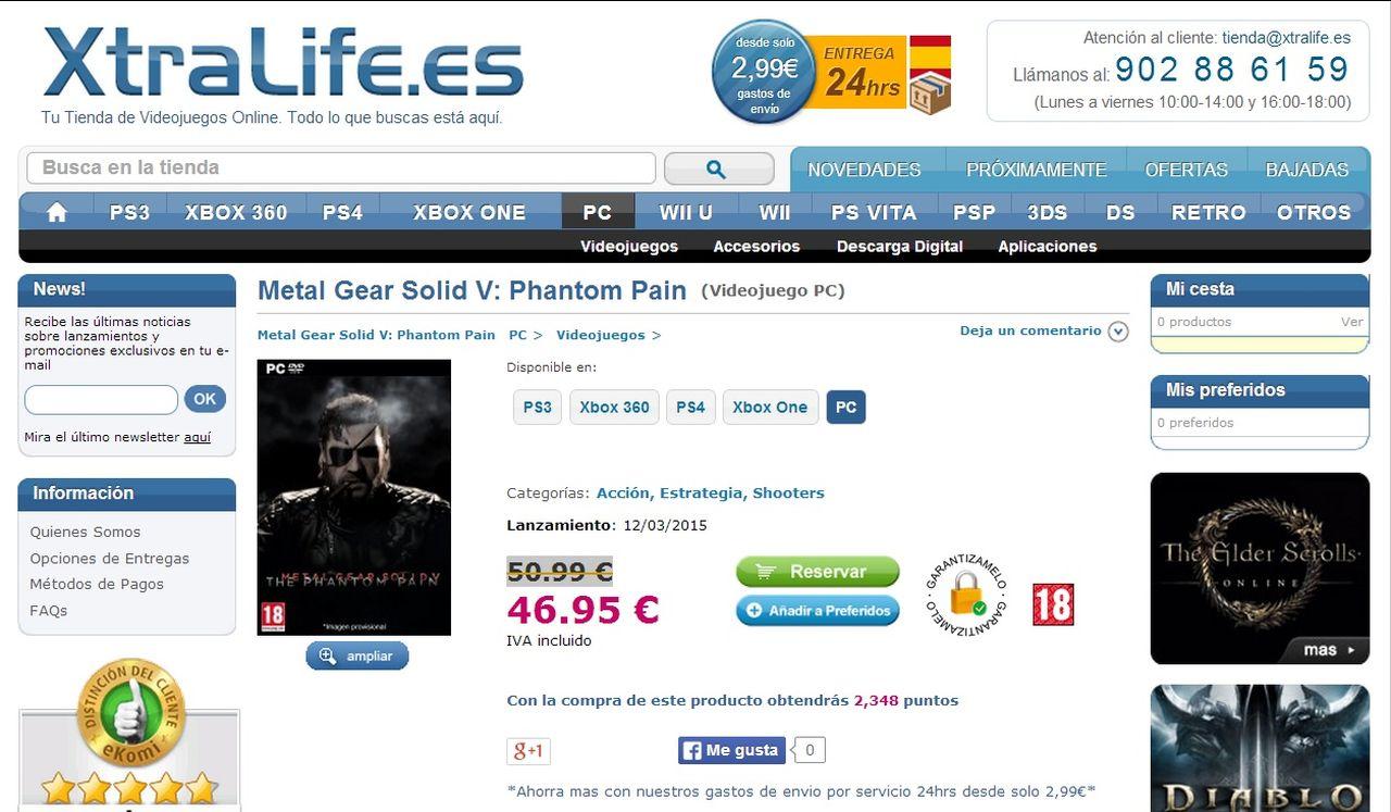 mgs5 the phantom pain-pc-listing