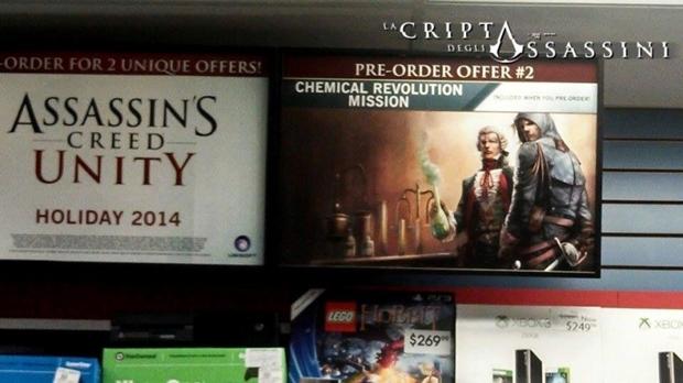 Assassin's Creed 5 Unity pre order bonus