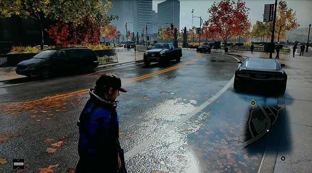 Watch Dogs wet road