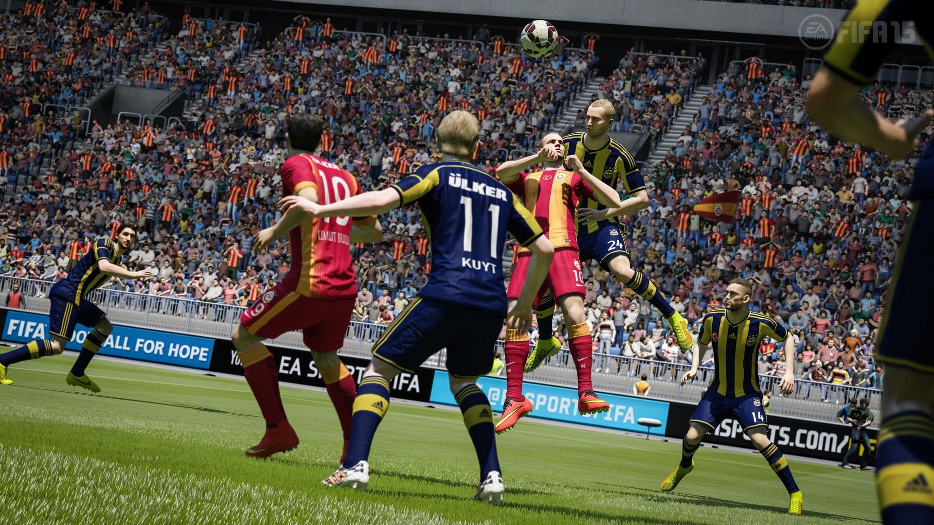 from the ps4 and xbox one versions of fifa 15 the screenshots areXbox One Fifa 15