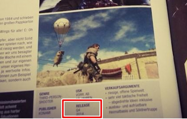 Mgs 5 release date