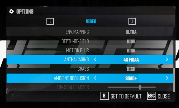 The Crew PC Graphics Options Settings
