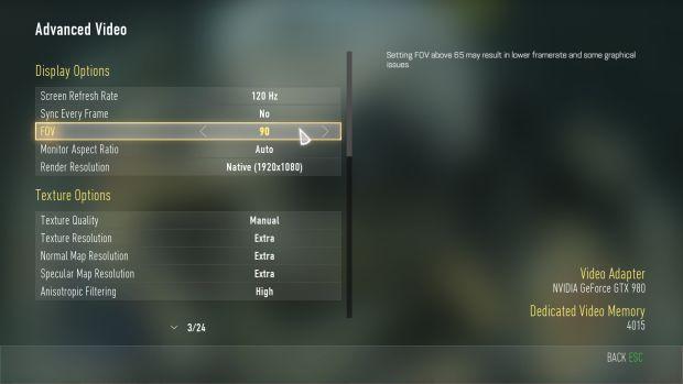 Call of Duty Advanced Warfare_PC options