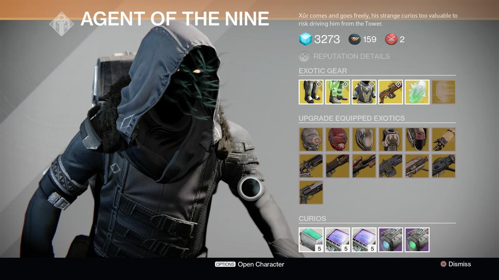 Destiny s xur returns with the worst exotic weapon 171 gamingbolt com