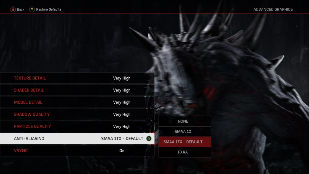 EVOLVE PC Graphics Settings 2