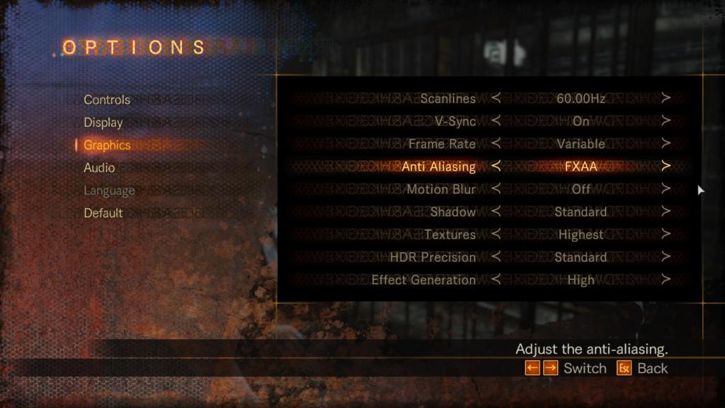 Resident Evil Revelations 2 PC Graphics Settings