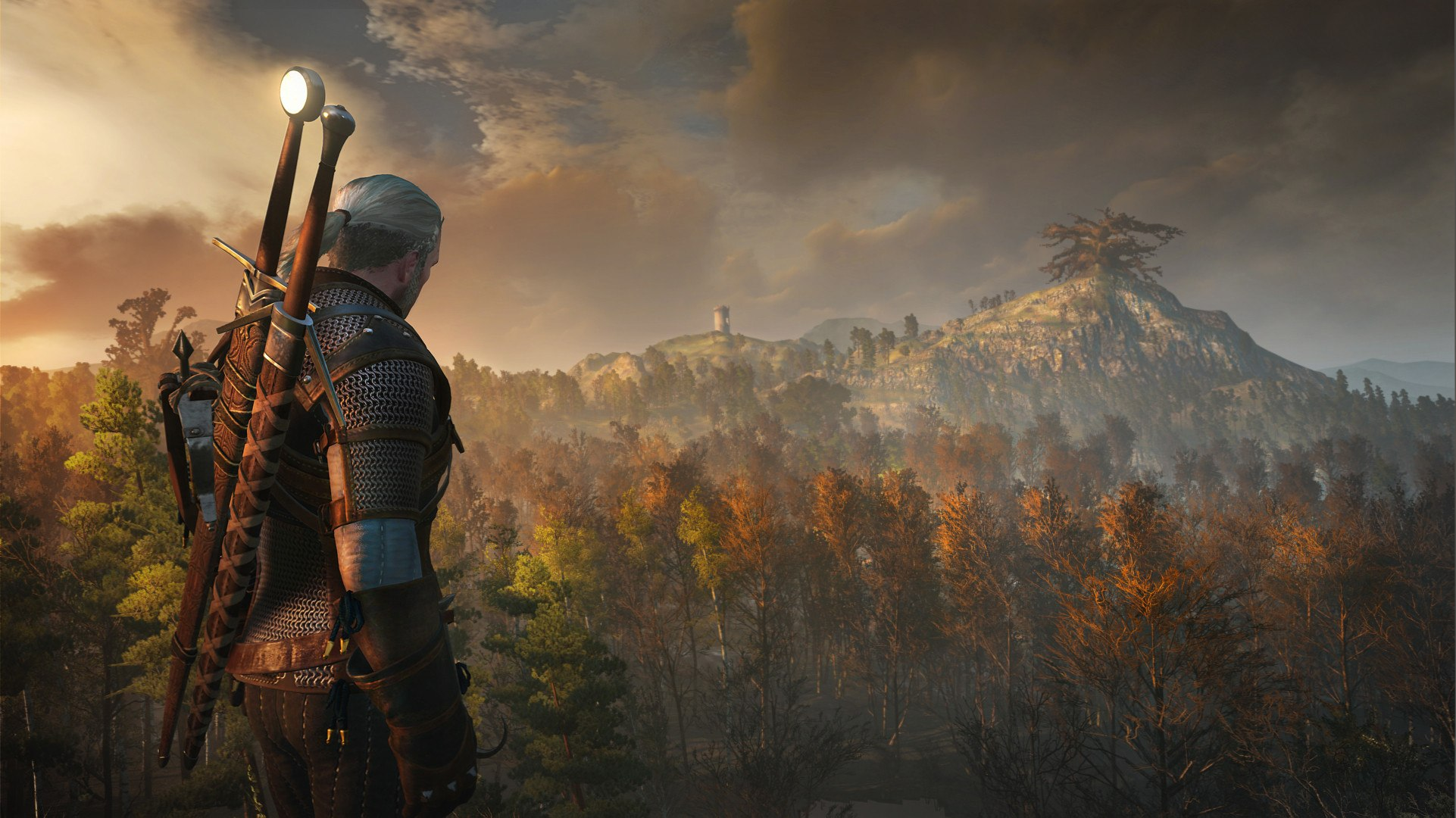 Geralt Overlooking A Wide Vista