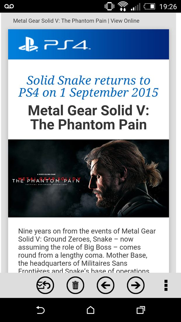 mgs5 solid snake playstation email