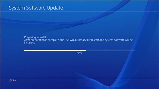ps4 self updating