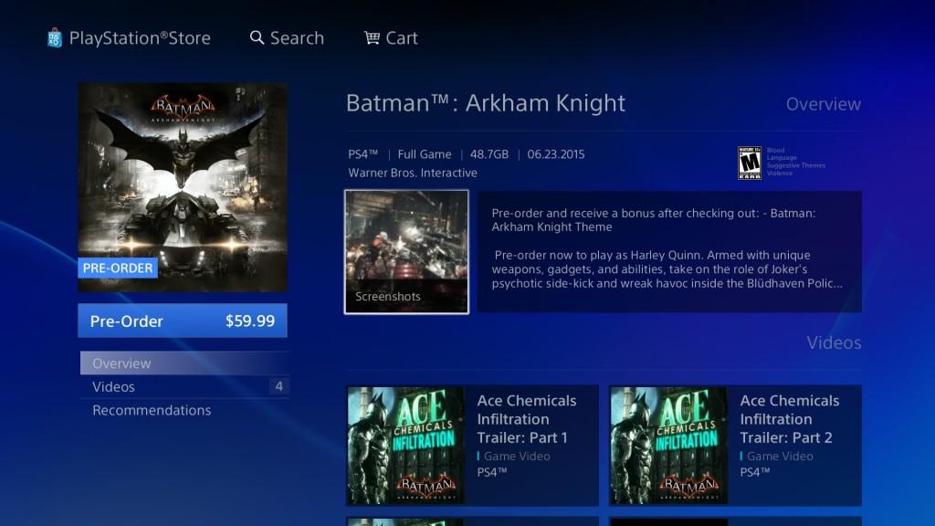 Batman Arkham Knight File Size