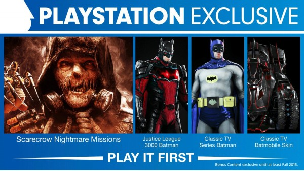 Batman Arkham Knight PS4 Exclusive Content