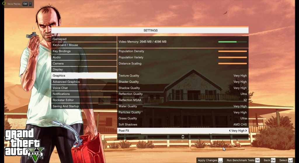 GTA 5 PC GRAPHICS SETTINGS OPTIONS VARIABLES PARAMETERS 1