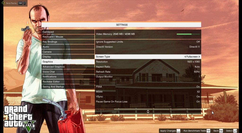 GTA 5 PC GRAPHICS SETTINGS OPTIONS VARIABLES PARAMETERS