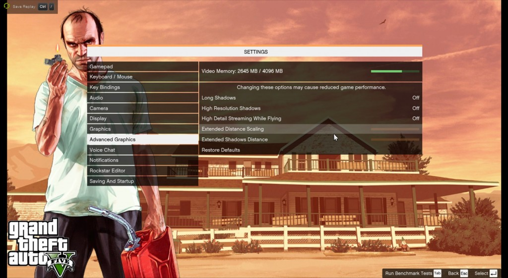 GTA 5 PC GRAPHICS SETTINGS OPTIONS VARIABLES PARAMETERS 3