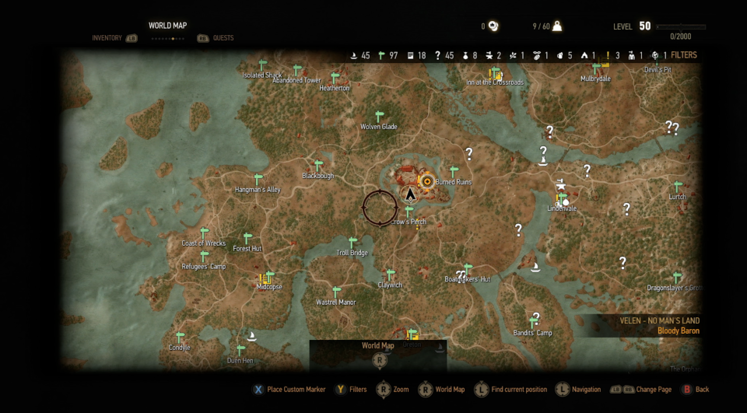 The witcher 3 world map