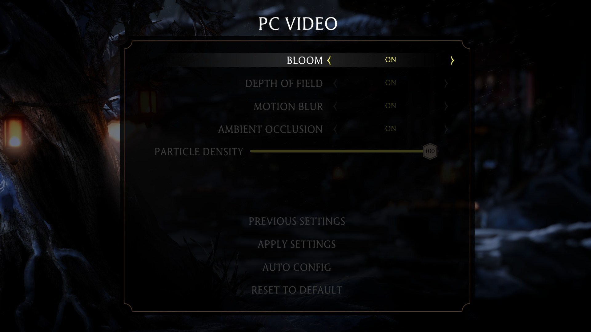 mortal kombat x pc graphical settings options