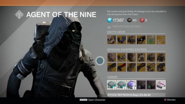 Destiny s xur returns on may 1st with heart of the praxic fire hard