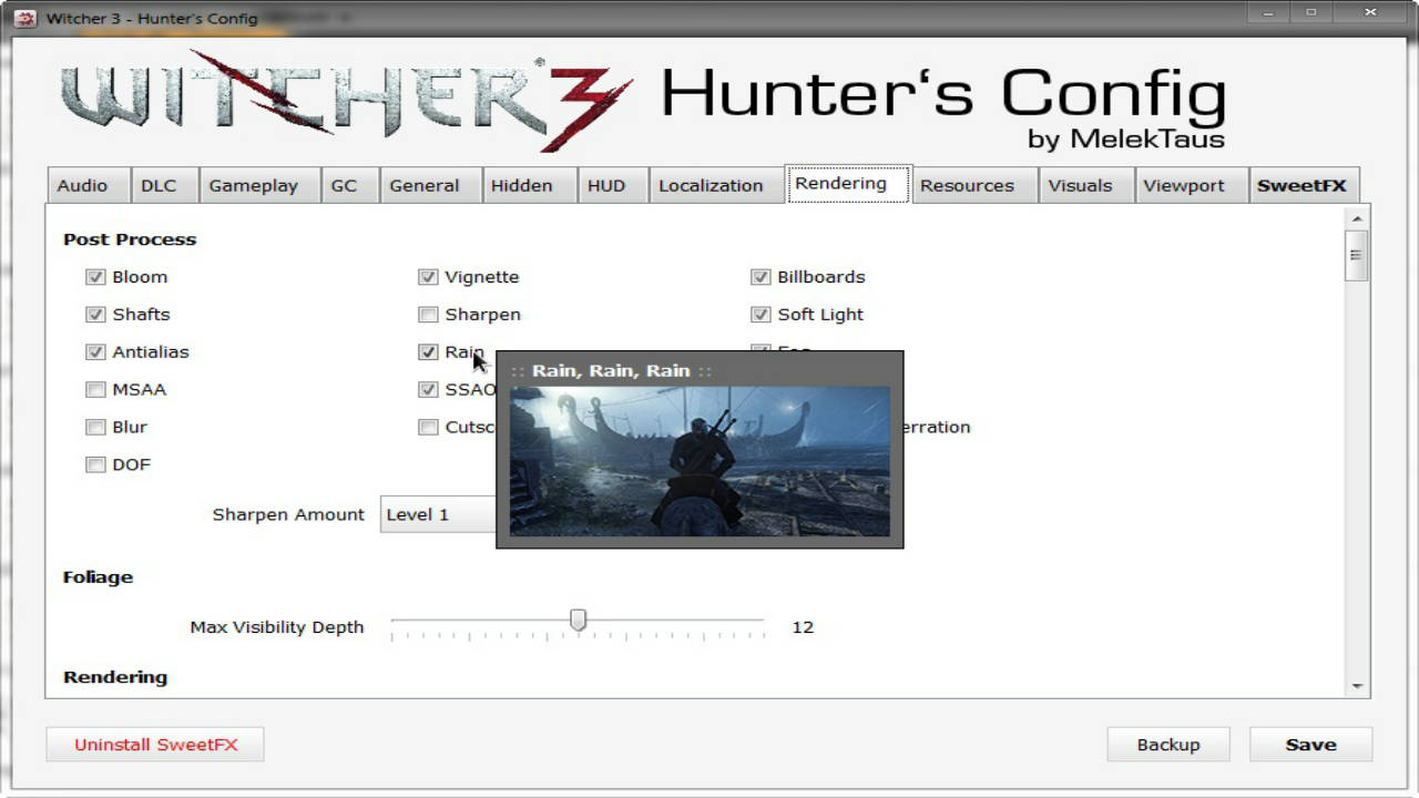 w3hc witcher 3 hunter s config