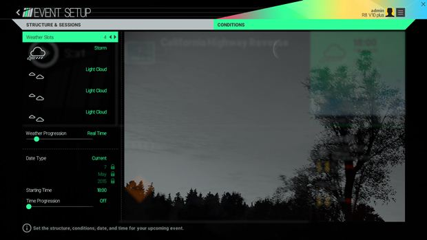 project cars weather settings 2