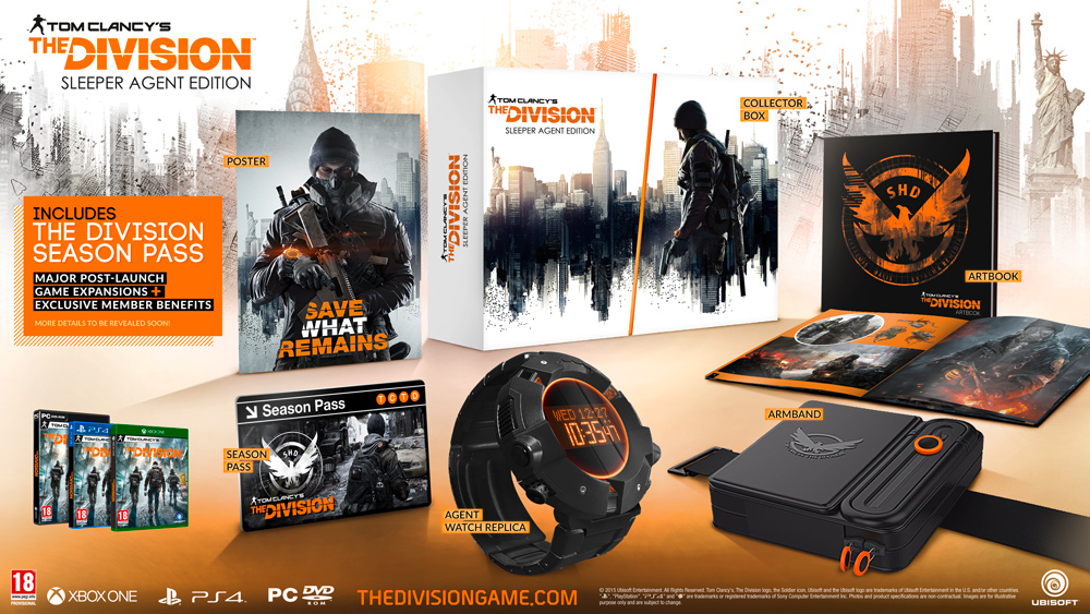 tom clancy s the division collector s and gold editions. Black Bedroom Furniture Sets. Home Design Ideas
