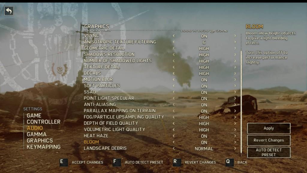 Metal Gear Solid 5 PC settings