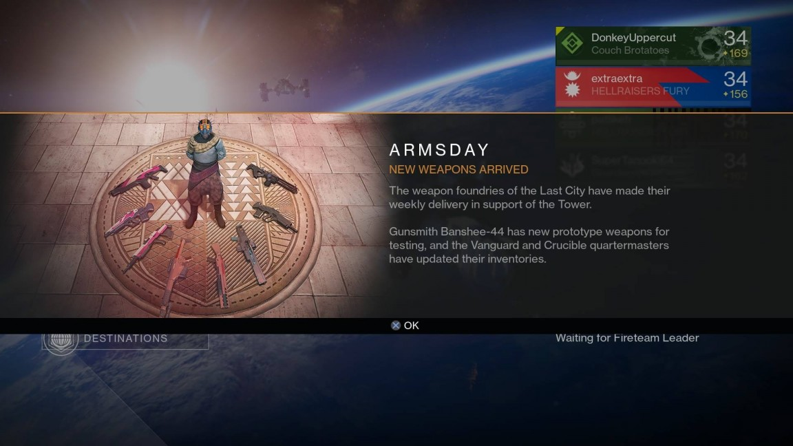 Destiny Armsday