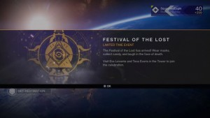 Destiny Database Updated With Festival of the Lost Items, Quest Details