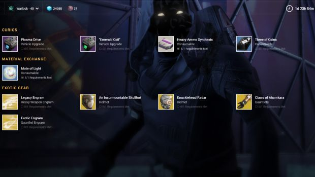 Destiny Xur_October 9th