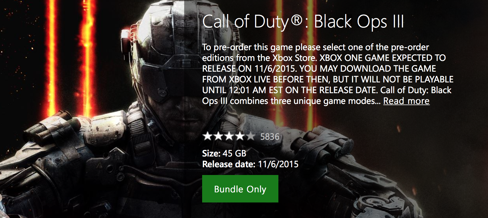 xbox one call of duty black ops 3 file size