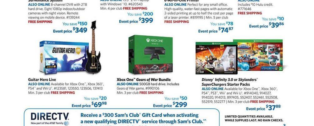 sams club xbox one ad