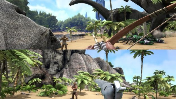 ARK Survival Evolved split-screen