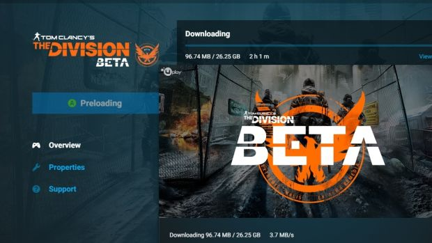 The Division beta size