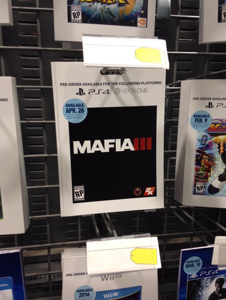mafia 3 pre-order card