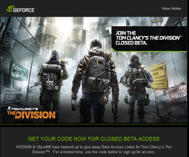 the division beta nvidia