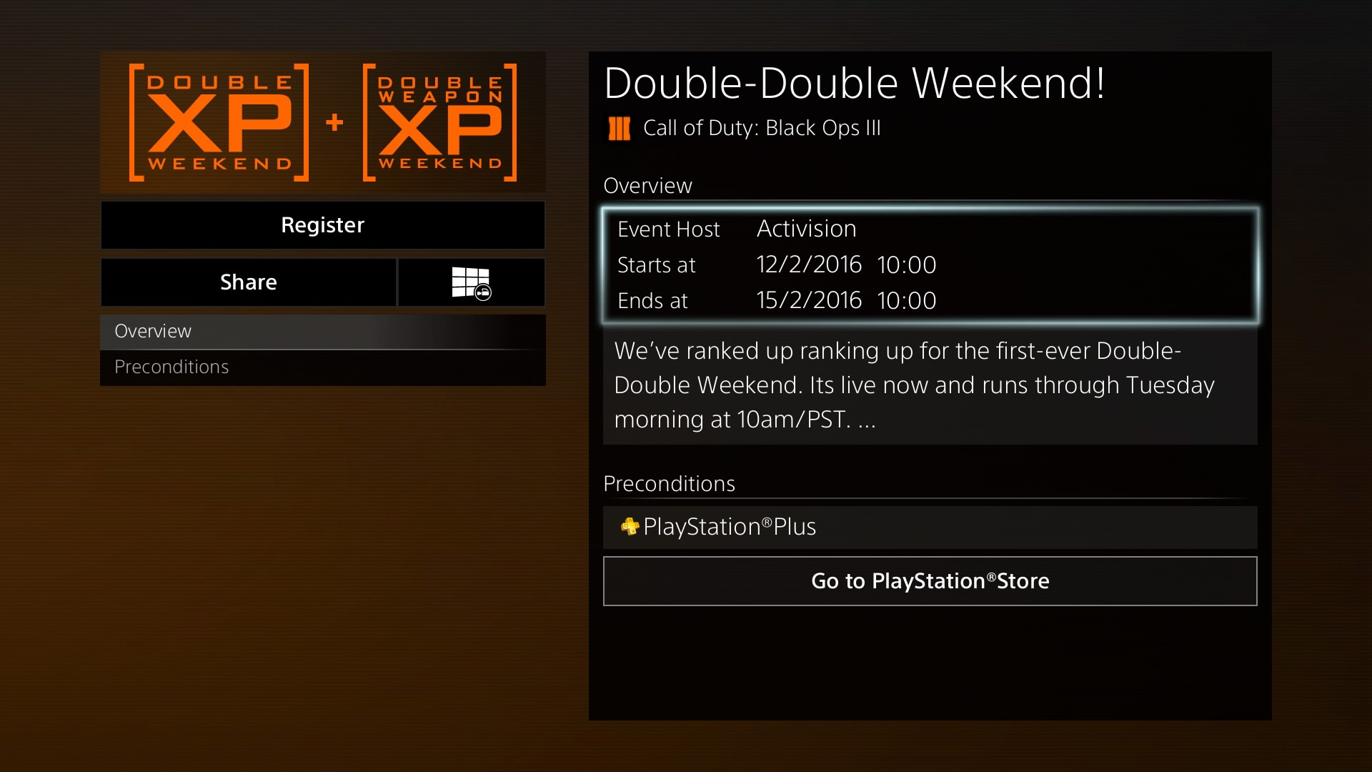 call of duty black ops 3 double xp