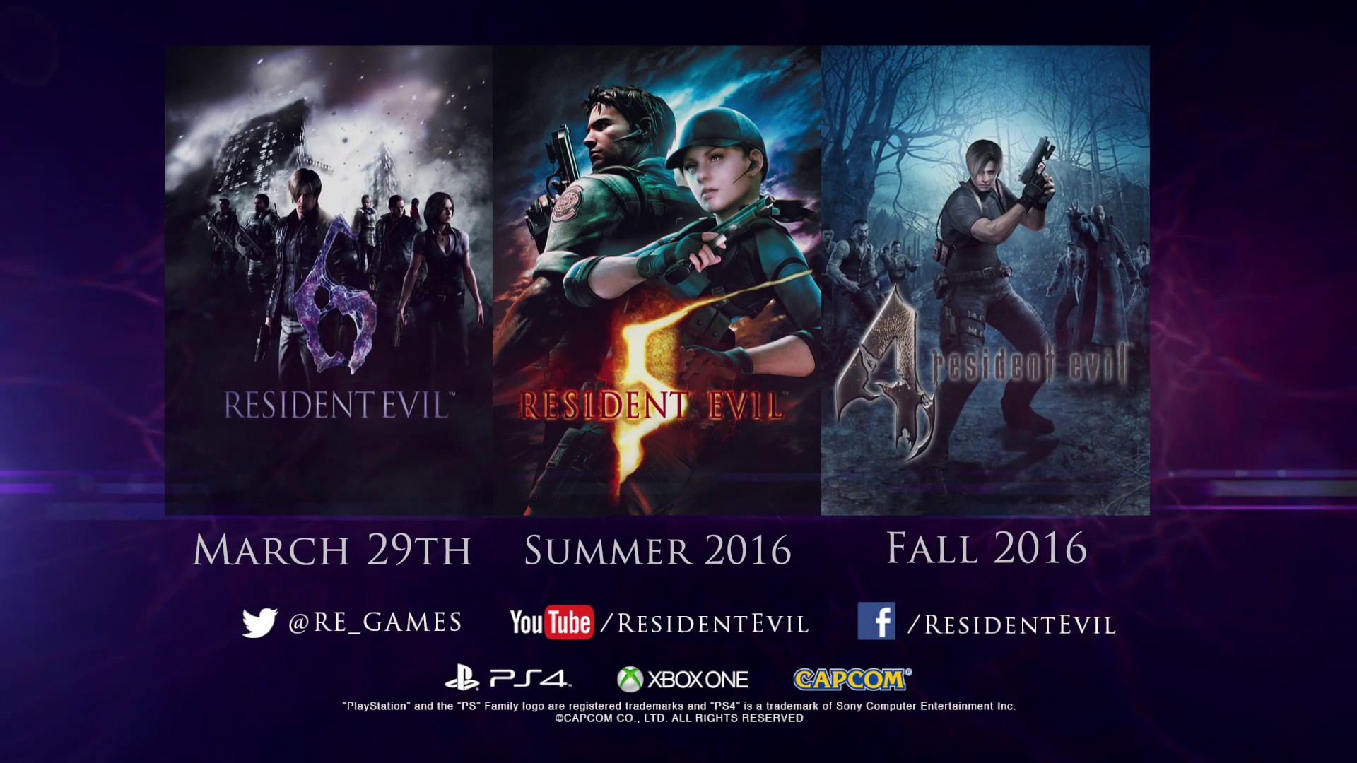 resident evil 4, 5, 6 ps4 xbox one