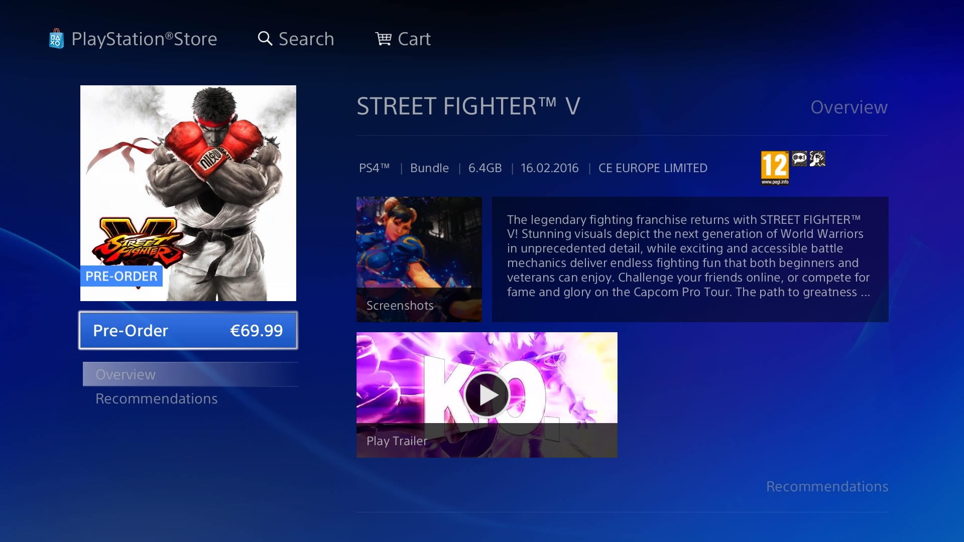 street fighter 5 file size