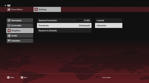 hitman ps4 xbox one fps setting