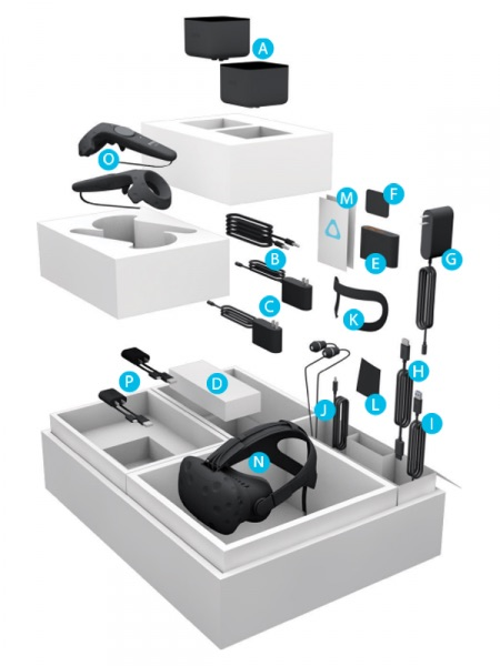 htc vive retail package