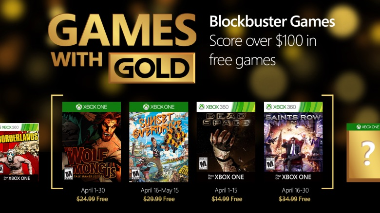 xbox live games with gold march 2016