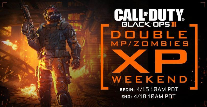 call of duty black ops 3 double xp weekend