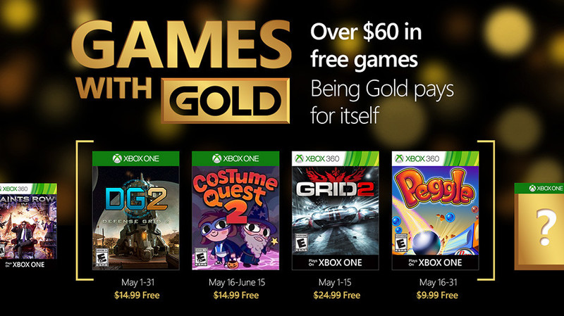 xbox live games with gold may