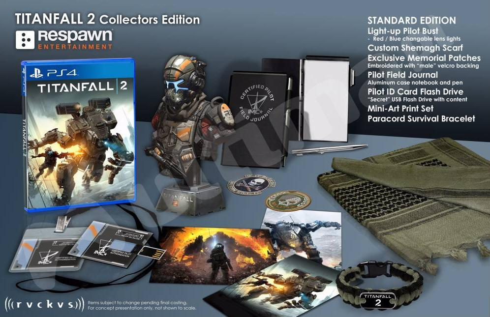 Titanfall 2 Standard and Uber Collector's Editions, Box ...