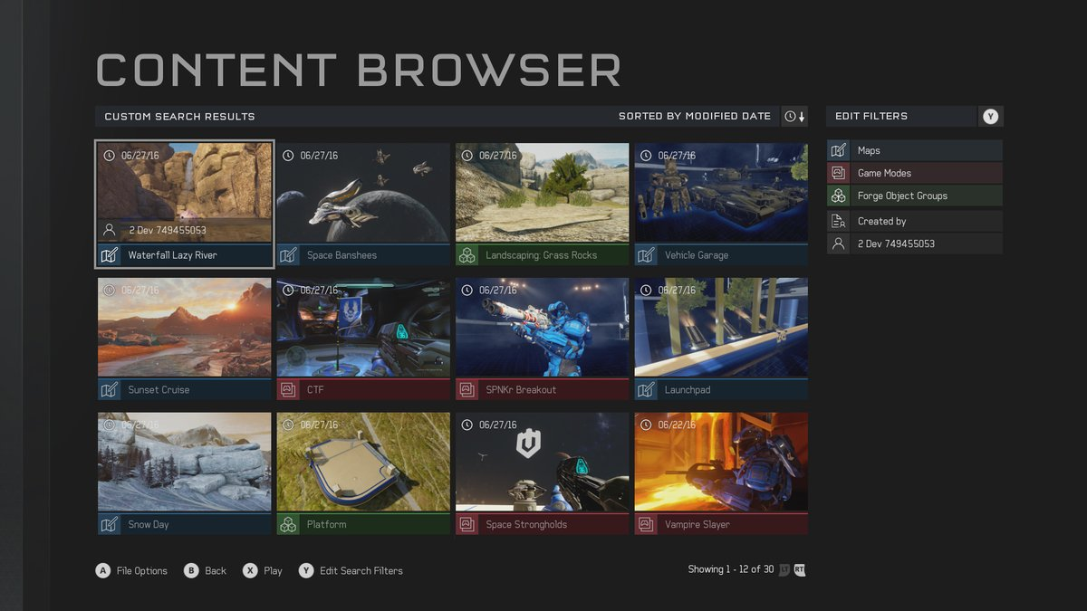 Halo 5 Forge browser