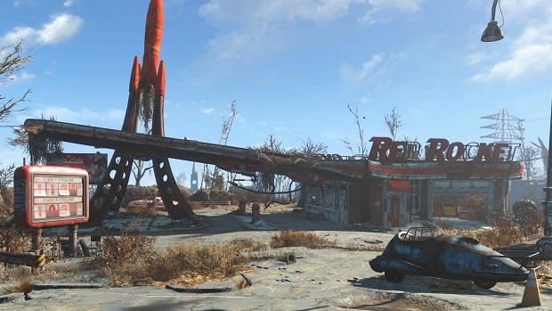 red rocket gas station fallout 4 x