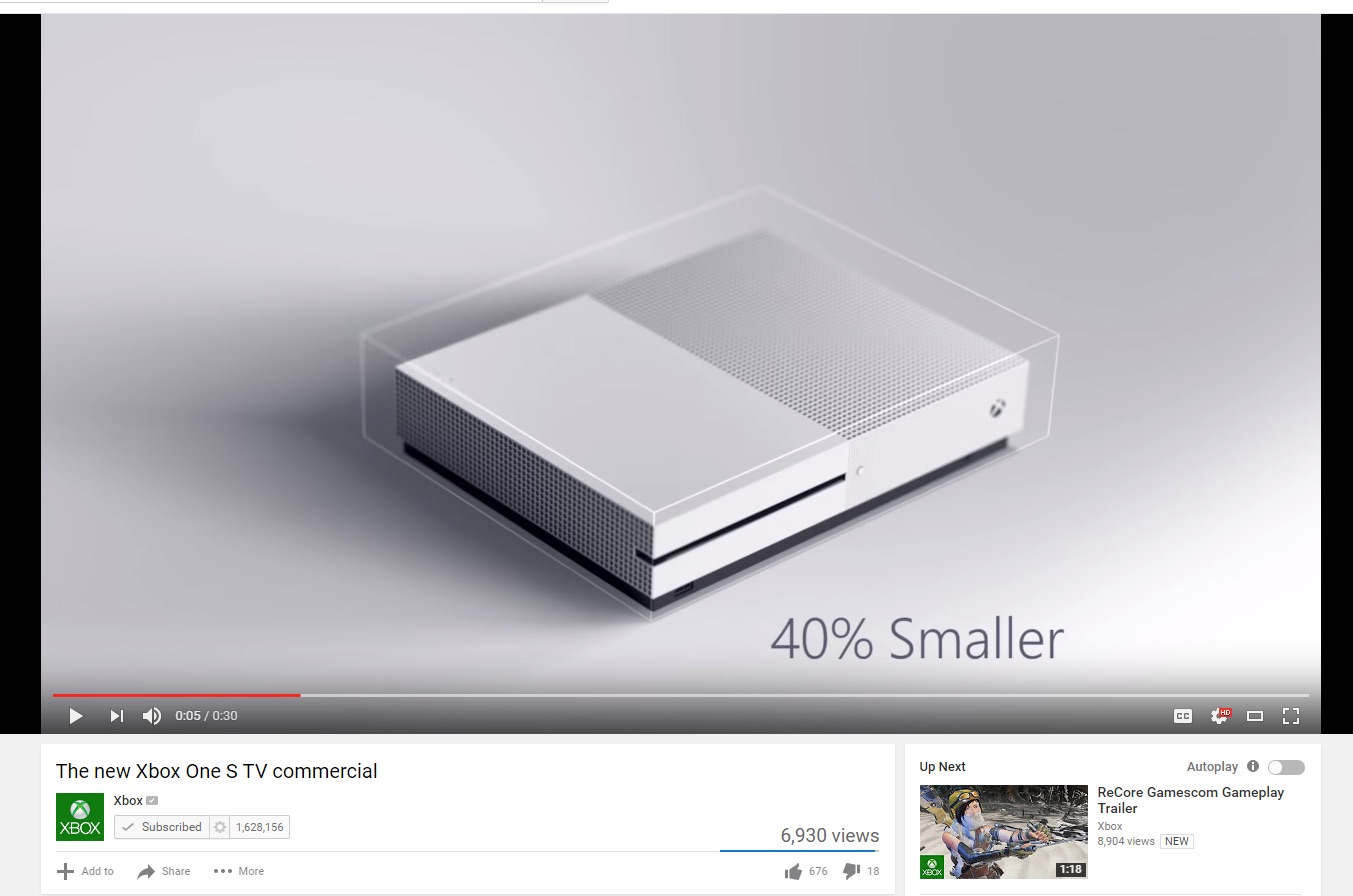 xbox one s ad new